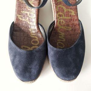 Sam Edelman Shoes - Sam Edelman Harmony Blue Suede Espadrilles